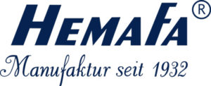 Hemafa Schriftzug Blau